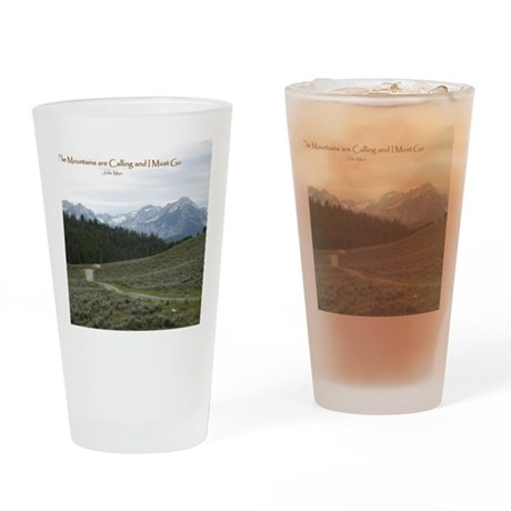 The Sawtooth Mountains are Calling Drinking Glass