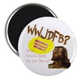 "WWJDFB Jesus Bacon 2.25"" Magnet (10 pack)"