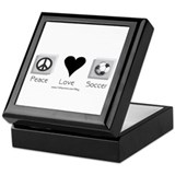 Peace Love &amp; Soccer Keepsake Box
