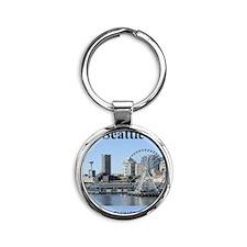 Seattle_2.3665x4.598_iPhone4_4SSwit Round Keychain
