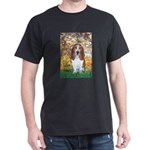 Monet's Spring & Basset Dark T-Shirt