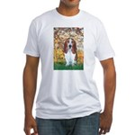 Monet's Spring & Basset Fitted T-Shirt