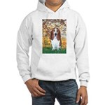 Monet's Spring & Basset Hooded Sweatshirt