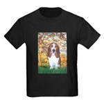 Monet's Spring & Basset Kids Dark T-Shirt