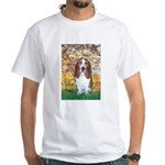 Monet's Spring & Basset White T-Shirt