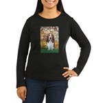 Monet's Spring & Basset Women's Long Sleeve Dark T