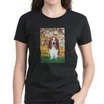 Monet's Spring & Basset Women's Dark T-Shirt