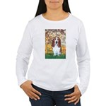 Monet's Spring & Basset Women's Long Sleeve T-Shir