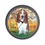 Monet's Spring & Basset Wall Clock