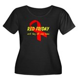 Red Friday ver4 Women's Plus Size Scoop Neck Dark
