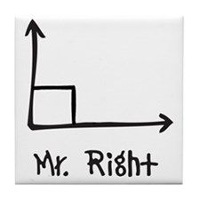 Mr Right Tile Coaster