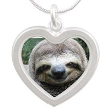 Killer Sloth Silver Heart Necklace