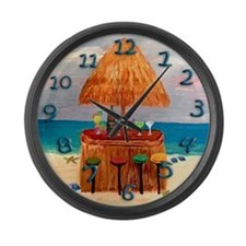 Tiki Time Large Wall Clock
