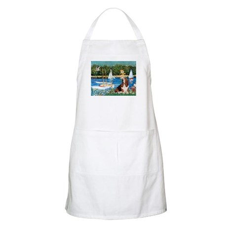 Sailboats & Basset Apron