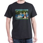 Sailboats & Basset Dark T-Shirt