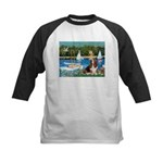Sailboats & Basset Kids Baseball Jersey