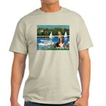 Sailboats & Basset Light T-Shirt