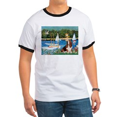 Sailboats & Basset Ringer T
