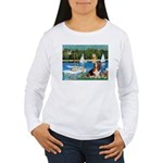 Sailboats & Basset Women's Long Sleeve T-Shirt