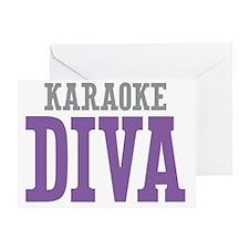 Karaoke DIVA Greeting Card