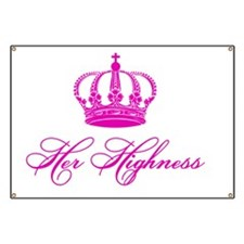 Her Highness text design with an old crown Banner
