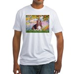 Basset in the Garden Fitted T-Shirt