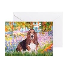 Basset in the Garden Greeting Cards (Pk of 10)
