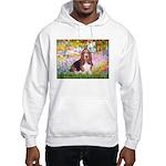 Basset in the Garden Hooded Sweatshirt