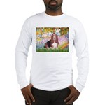 Basset in the Garden Long Sleeve T-Shirt