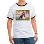 Basset in the Garden Ringer T