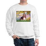 Basset in the Garden Sweatshirt