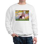 Basset in the Garden Sweatshirt