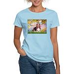 Basset in the Garden Women's Light T-Shirt