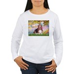 Basset in the Garden Women's Long Sleeve T-Shirt