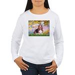 Basset in the Garden Women's Long Sleeve T-Shirt