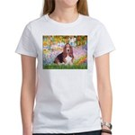 Basset in the Garden Women's T-Shirt
