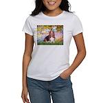 Basset in the Garden Women's T-Shirt