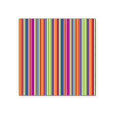 "Beach Stripes Square Sticker 3"" x 3"""