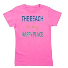 The Beach Is My Happy Place Girl's Tee