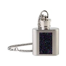 Mosaic Glitter 1 Flask Necklace