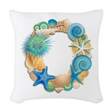 Beach Theme Initial O Woven Throw Pillow