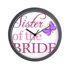 Sister Of The Bride (Butterfly) Wall Clock