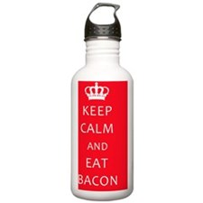 Keep Calm and Eat Baco Water Bottle