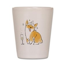 Champagne Corgi Shot Glass