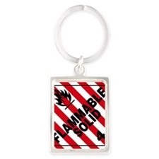 ADR Sticker - 4 Flammable Solid Portrait Keychain