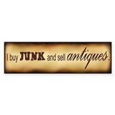 Antique Bumper Bumper Sticker