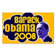 Groovy Obama 2008 Rectangle Sticker