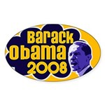 Groovy Obama 2008 Oval Sticker