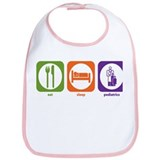 Eat Sleep Pediatrics Bib
