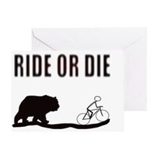 Bike Ride or Die Greeting Card